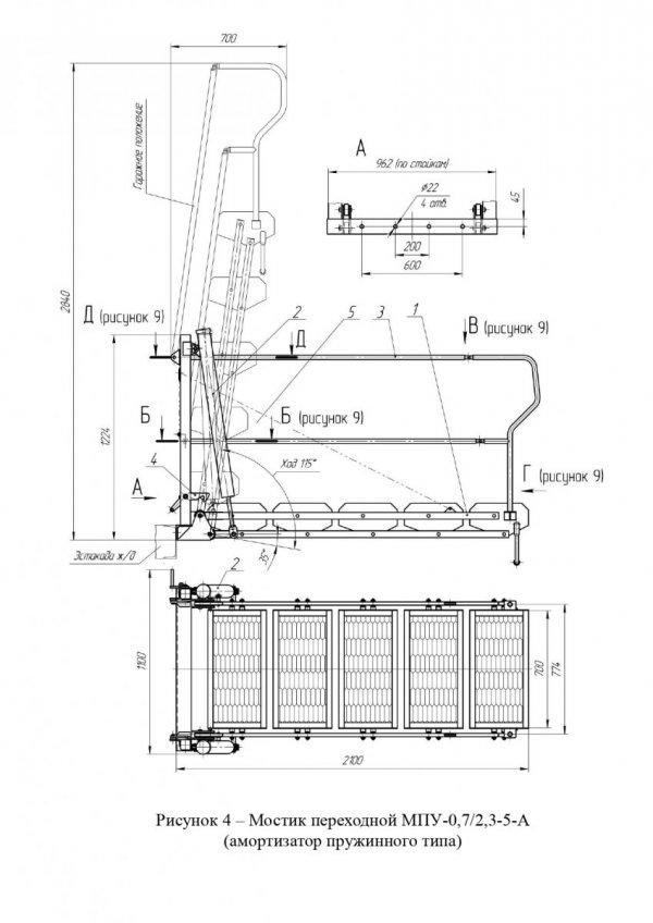 Мостик МПУ-0,7-А общ. вид