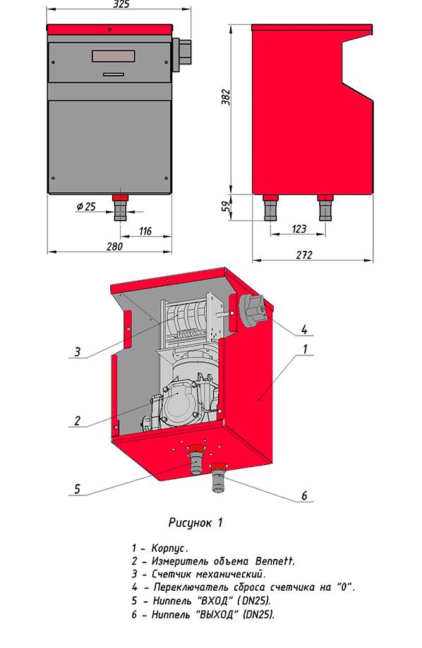 Счетчик топлива ST 50 2