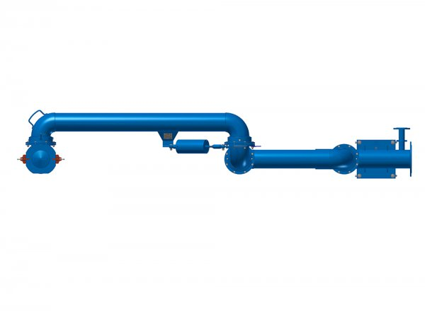Устройство слива УСН-Г с гидромонитором