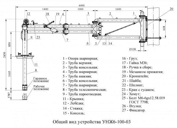 Устройство УНЖ6-100-03 общ. вид