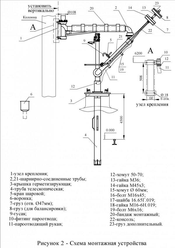 Устройство УНЖ6-100-09 сх. монтажа