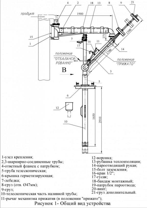Устройство УНЖ6-100-09 общ. вид