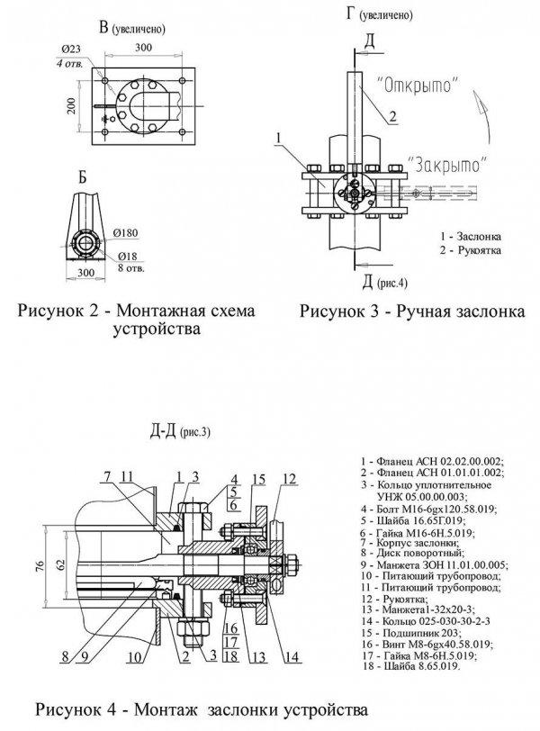 Устройство АСН-100С монтаж