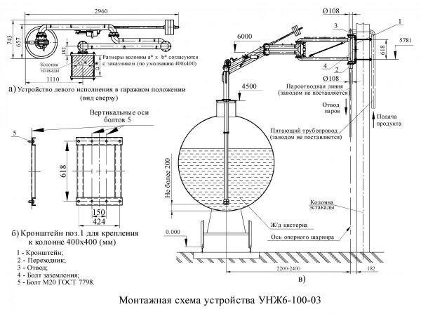 Устройство УНЖ6-100-03 схема монтажа