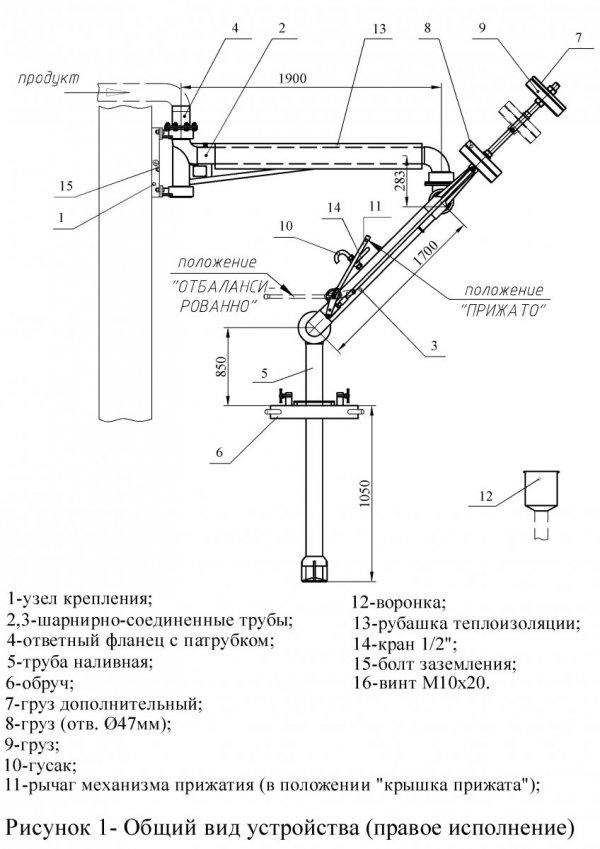 Устройство УНЖ6-100-10 общ. вид